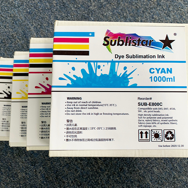 Sublistar Sublimation Ink Pack
